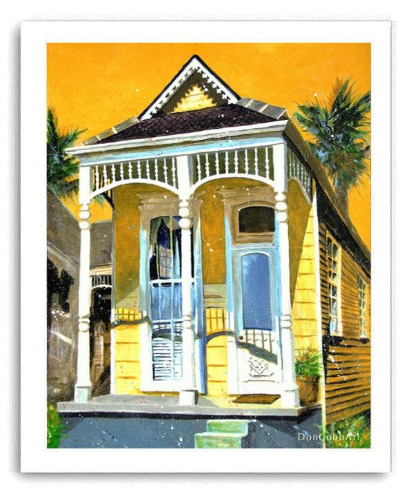 New Orleans Garden District French Quarter Shotgun House Art