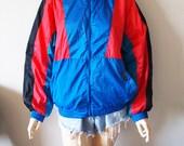 MEMBERS ONLY // Vintage 80s Colorful Windbreaker Unisex Small Winter Coat 1980s Hip Hop Clothing Bomber Jacker Aesthetic Vaporwave