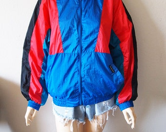 MEMBERS ONLY // Vintage 80s Colorful Windbreaker Unisex Small Winter Coat 1980s Hip Hop Clothing Bomber Jacker Aesthetic Vaporwave