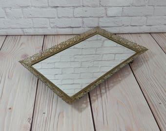 ornate gold mirrors etsy