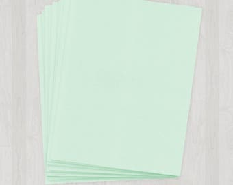 25 Sheets of Cover Stock - Mint and Light Green - DIY Invitations - Paper for Weddings & Other Events