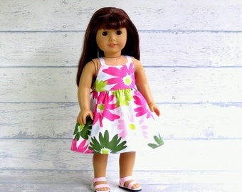 18 inch Doll Dress and Sandals, M2MG Summer Dress, Strappy Sandals