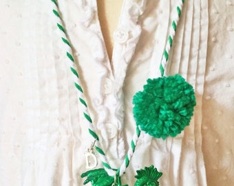 Dragon Necklace. Green Dragons. Duxbury Dragons. School Spirit necklace. Teacher Gift. Bus Driver Gift. Boys Necklace. Townie Necklace.
