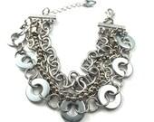 Chain Cuff Bracelet Multil Strand Hardware Jewelry Eco Friendly Gift under 20