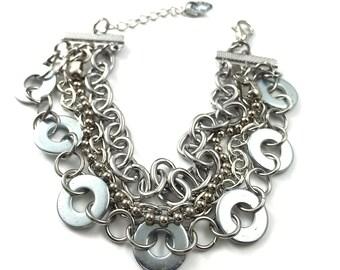 Chain Cuff Bracelet Multil Strand Hardware Jewelry Eco Friendly