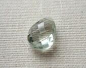 Green Amethyst Prasiolite Faceted Teardrop Bead 10 x 14 mm - Focal Pendant Gemstone