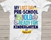 Pre-School last day shirt - ready for kindergarten pre-school graduation tshirt MSCL-001
