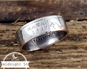 Hawaii Coin Ring State Quarter Double Sided Your Size MR0703-Tsthi