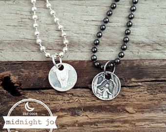90% Silver State Coin Ring Add On Punch Out Necklace Charm