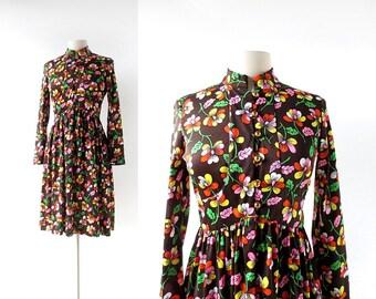 60s Floral Dress | Dacha Garden | 1960s Dress | Small S
