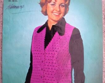 Free Crochet Pattern For Ladies Gilet : Crochet waistcoat Etsy