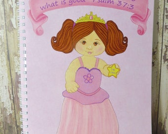 Trust in Jehovah and do what is good - Psalm 37:3 ~Journal Notebook~ Princess Girl ~ JW.ORG
