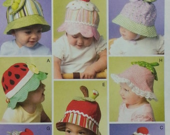 Infant Sun Hat Mccalls fashion accessories Hat Pattern Mccalls M6714 Infant Hat pattern Size SML Sew Sweet Chic by Susan Cousineau