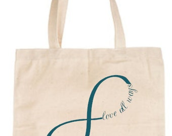 Love All Ways Tote | Infinity Sign Canvas bag | Activist | Equality | Suport | LGBTQIA