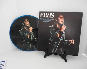 Elvis Presley The King Vinyl Record Picture Disc RCA Music Wall Art 1970s Rock and Roll Reversible Cover
