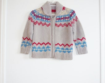 Vintage Grey Cowichan Sweater