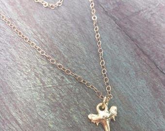 "Tiny Shark Tooth Necklace, Shark Tooth Necklace, Gold Filled Tooth Necklace, 16 Inch Gold Shark Tooth Necklace, 16"" Shark Tooth Necklace"