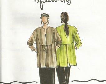 Christine Jonson 115 UNCUT Misses Inset Jacket Boutique Sewing Pattern Size XS-XL Bust 30.5-48