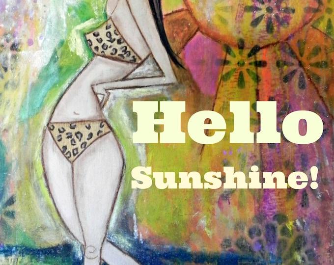 Featured listing image: Hello Sunshine! 5x7 ARt Card Print