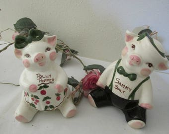 Shakers Polly Pepper and Sammy Salt Pigs