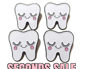 SECONDS SALE  - Tooth Pin - Sweet Tooth Pin - Dentist Gift - Tooth Fairy Gift - Dental Hygienist Gift