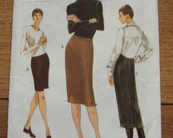 2001 vogue pattern 9928 misses slim skirt sz 14-16-18 uncut 3 lengths