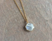 RESERVED for Eric Moonstone charm necklace