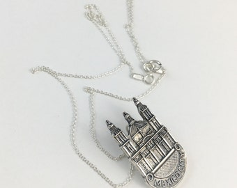 Mexico Necklace, Mexican Gift, Mexico Charm, Spoon Necklace, Spoon Jewelry, Mexico Jewelry, Vintage Mexico, Mexico Woman, Mexico Souvenir