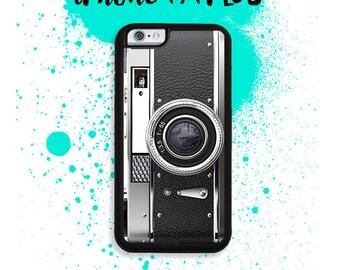 iPhone 7 or 7 PLUS Black Vintage Style Camera Phone Case