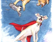Krypto and Streaky Print...