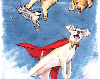 Krypto and Streaky Print