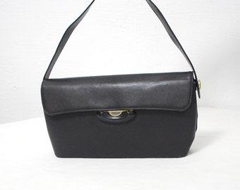 60s handbag. small leather bag. 50s purse