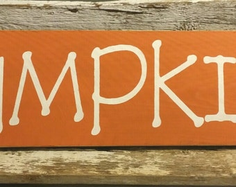 Fall Pumpkins Orange Wood Fence Board Primitive Sign Wall Decoration Holiday Decoration Sign
