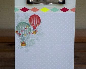 Small Clip Board Hot Air Balloons