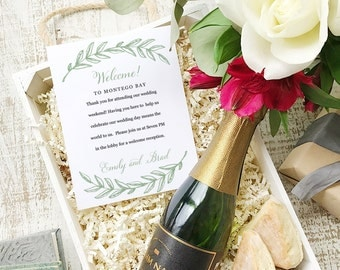 Wedding Welcome Note, Printable Wedding Welcome Bag Letter, Thank You, Woodland, Itinerary, Agenda, Hotel Card - INSTANT DOWNLOAD