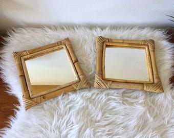 Miroir osier etsy for Miroir osier