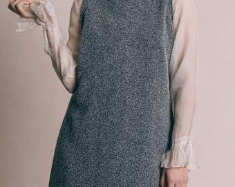 Vintage 90s Textured Knit Mock Turtleneck Dress | L