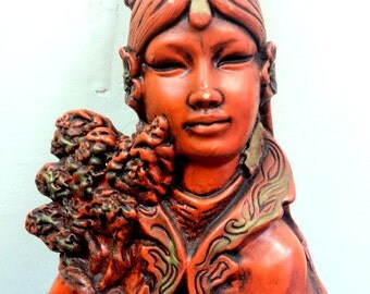 Mid Century Large Asian 1960s Statue