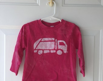 Garbage Truck Shirt, Red Truck Shirt, Kids Garbage Truck Shirt, Kids Truck Shirt, Boys Truck Shirt, Girls Truck Shirt, Long Sleeves (2T)