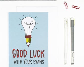 Good Luck With Your Exams Exam Card Good Luck Card