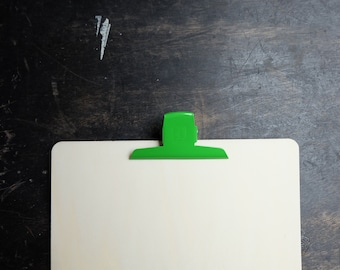 Large Binder Clips, retro green paper clip