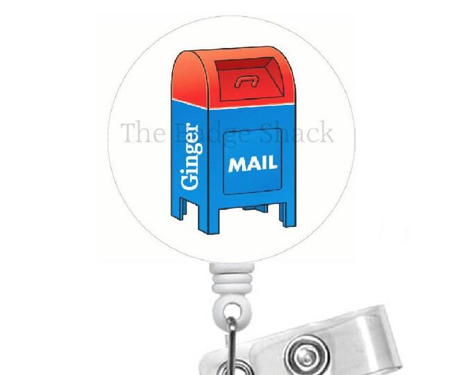 Post Office Badge Holder - Badge Reels - Mail Carrier Badge Reel - Mail Clerk Badge Reel - Postmaster Badge - Gift under 10 - Male Badge