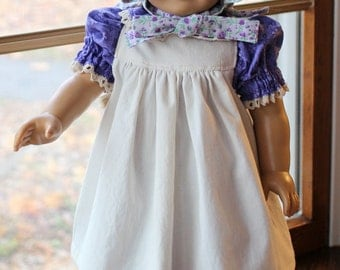 Little House- Pioneer Dress, Pinafore and Bonnet -Ready to Ship