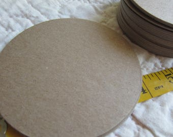 4 Inch Chipboard Circle Die Cut-10 Circles Blank-Unfinished-Decoration-Raw Chipboard Circle Shapes-Large Circles-Ornaments-Blank Surfaces