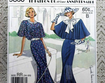 Simplicity 9360, Misses' Dress Sewing Pattern, Simplicity 60th Anniversary Pattern, Town Dress Pattern, Misses' Size 14 - 20, Uncut