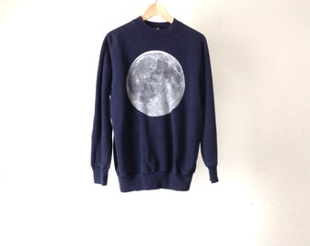 FULL MOON blue and white sweatshirt cozy