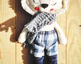 Lion -handmade fabric doll- cloth doll- OOAK