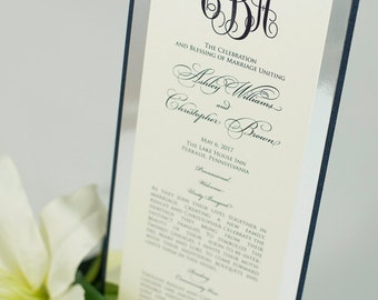 Large, Triple-Layered, Ceremony Program Card