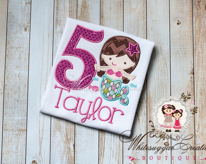 Mermaid Birthday Shirt - PREMIUM Custom Under the Sea Shirt - Girl Birthday Party - Under the Sea Theme Outfit