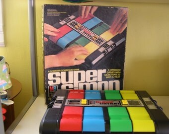 Vintage Super Simon Electronic Game Milton Bradley 1979 with Box-Works!